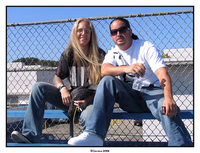 Hanging with friend, Joe Cinnante, at the PSA Nationals in L.A. in 2006.  Photo by Laura Centeno.