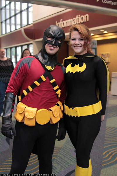 Red Robin and Batgirl