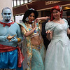 Genie, Princess Jasmine, and Ariel