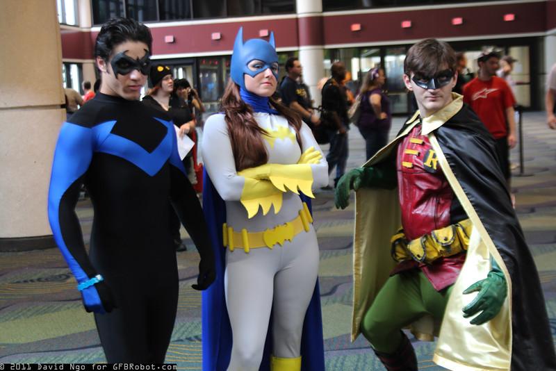 Nightwing, Batgirl, and Robin