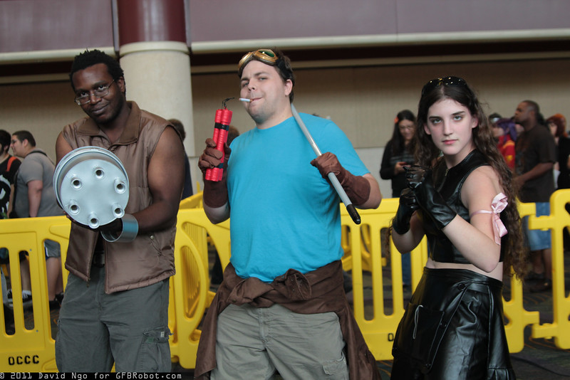 Barret Wallace, Cid Highwind, and Tifa Lockhart