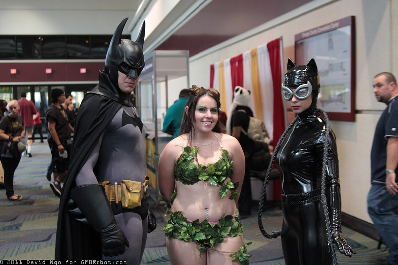 Batman, Poison Ivy, and Catwoman