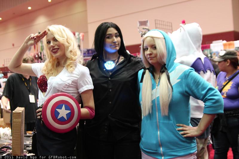 Steve Rogers, Tony Stark, and Quicksilver