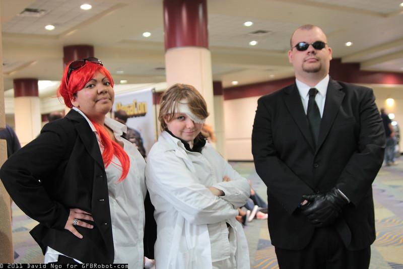 Reno, Rufus Shinra, and Rude