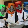 Green Knight, Orange Knight, Red Knight, and Blue Knight