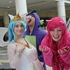Princess Celestia, Spike, and Pinkie Pie