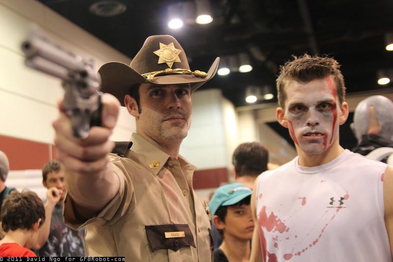 Rick Grimes and Walker