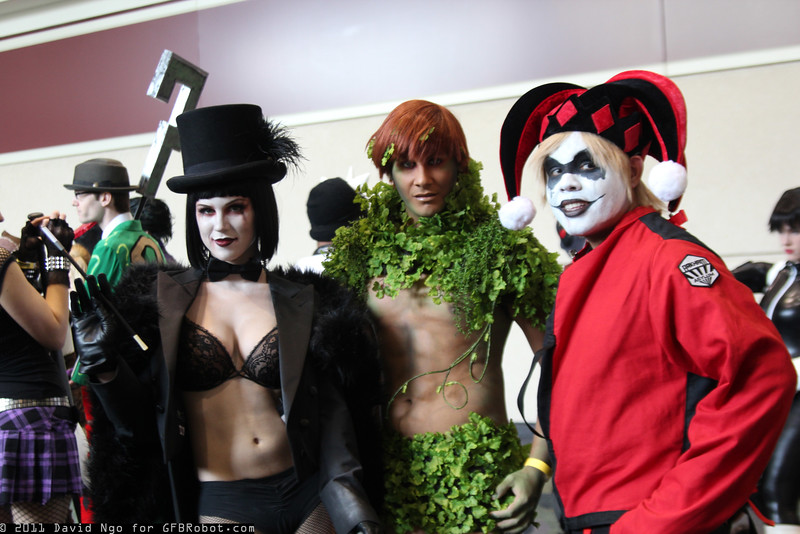 Penguin, Poison Ivy, and Harley Quinn