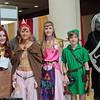 Malon, Nabooru, Princess Zelda, Link, and Dark Link
