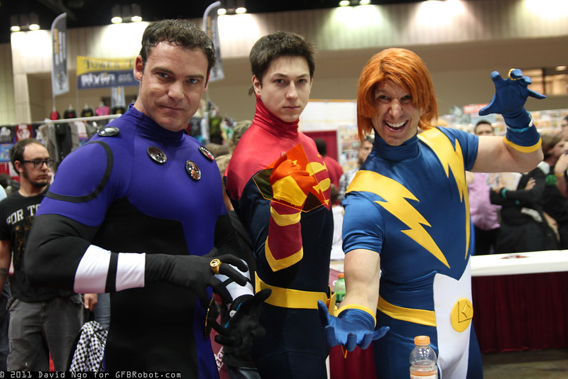 Cosmic Boy, Superboy, and Live Wire