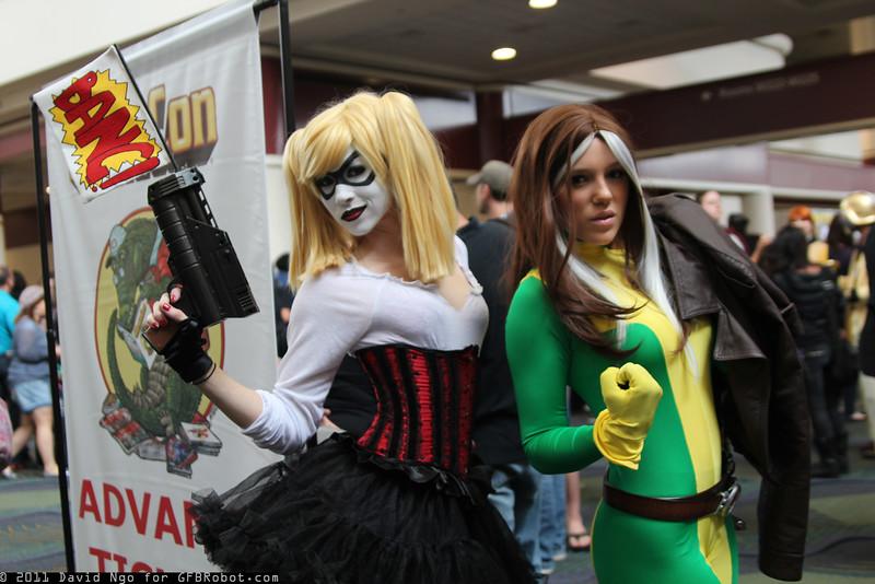 Harley Quinn and Rogue