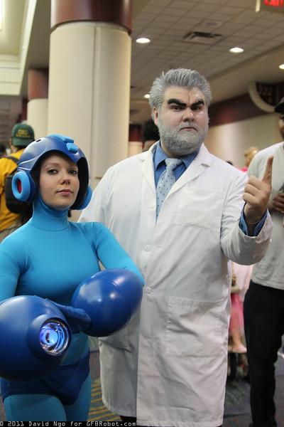 Mega Man and Dr. Arthur Light