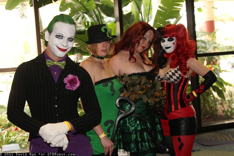 Joker, Riddler, Poison Ivy, and Harley Quinn