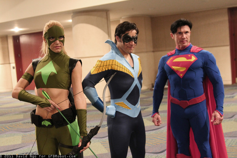 Artemis, Nightwing, and Superman