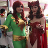 Phoenix and Scarlet Witch