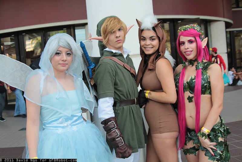 Navi, Link, Epona, and Great Fairy of Power