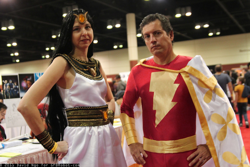 Isis and Captain Marvel