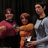 Red Shirt, Captain James T. Kirk, Spock, and Tribble