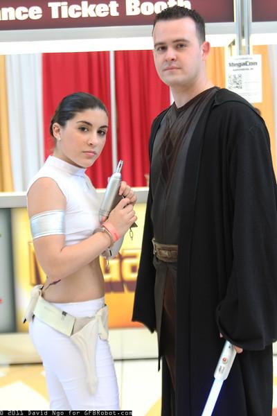 Padme Amidala and Anakin Skywalker