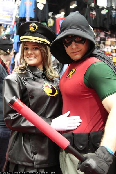 Lady Blackhawk and Robin