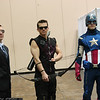 Agent Phil Coulson, Hawkeye, and Captain America