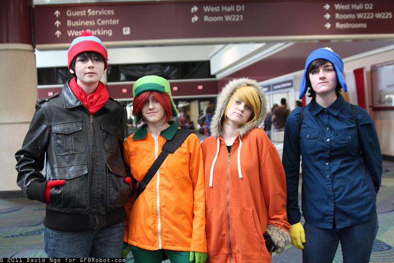Stan Marsh, Kyle Broflovski, Kenny McCormick, and Eric Cartman