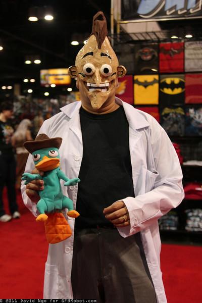 Dr. Heinz Doofenshmirtz and Perry the Platypus