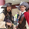 Captain Jack Sparrow and Will Turner