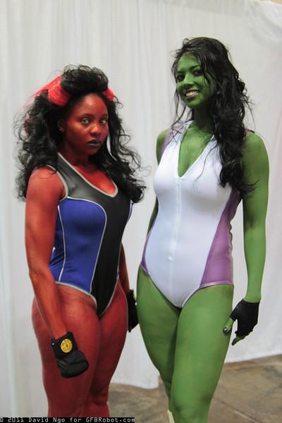 Red She-Hulk and She-Hulk