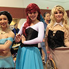 Princess Jasmine, Ariel, and Briar Rose