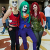 Harley Quinn, Joker, and Poison Ivy