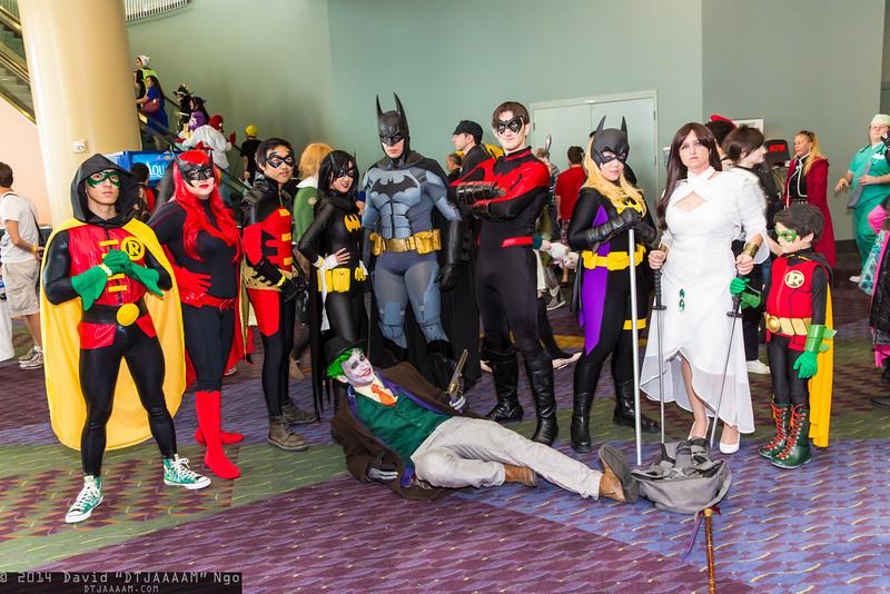 Robins, Batwoman, Batgirls, Joker, Batman, Nightwing, and Talia al Ghul