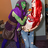 Green Goblin and Mary Jane Watson