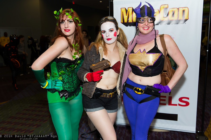 Poison Ivy, Harley Quinn, and Batgirl