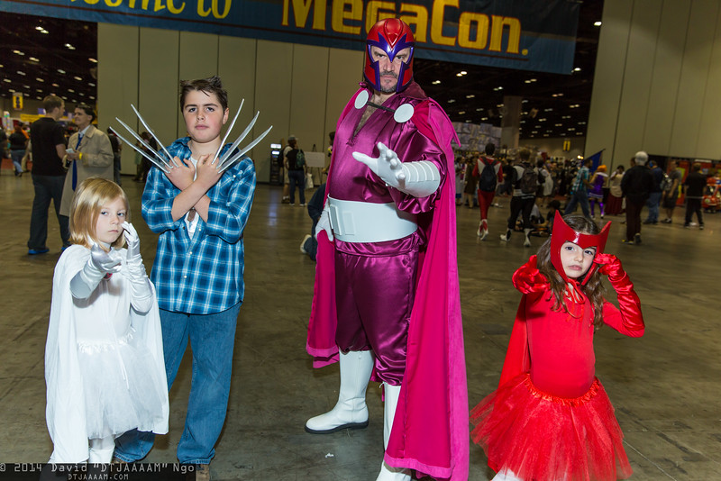 Emma Frost, Wolverine, Magneto, and Scarlet Witch