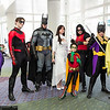 Catwoman, Nightwing, Batman, Talia al Ghul, Robins, and Batgirls