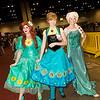 Ariel, Anna, and Elsa