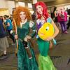 Merida, Ariel, and Flounder