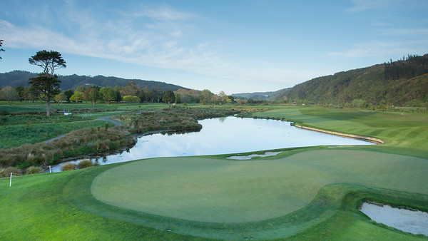 Photo of the4th hole at Royal Wellington Golf Club immediately prior to the hosting of the Asia-Pacific Amateur Championship tournament 2017 held in Heretaunga, Upper Hutt, New Zealand in late October 2017. Copyright John Mathews 2017.   www.megasportmedia.co.nz