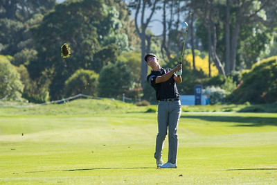 Jesse Yap from Singapore hitting a ball on the 12th hole on the 2nd day of competition  in the Asia-Pacific Amateur Championship tournament 2017 held at Royal Wellington Golf Club, in Heretaunga, Upper Hutt, New Zealand from 26 - 29 October 2017. Copyright John Mathews 2017.   www.megasportmedia.co.nz