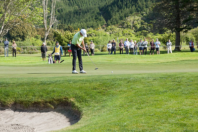 Lloyd Jefferson Go from Philippines putting on the 12th hole on the 2nd day of competition  in the Asia-Pacific Amateur Championship tournament 2017 held at Royal Wellington Golf Club, in Heretaunga, Upper Hutt, New Zealand from 26 - 29 October 2017. Copyright John Mathews 2017.   www.megasportmedia.co.nz