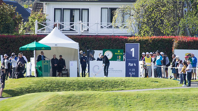 Action off the 1st tee on  Day 3 of the Asia-Pacific Amateur Championship tournament 2017 held at Royal Wellington Golf Club, in Heretaunga, Upper Hutt, New Zealand from 26 - 29 October 2017. Copyright John Mathews 2017.   www.megasportmedia.co.nz
