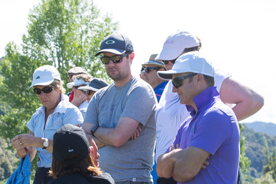 Fans watching the action on Day 3 of the Asia-Pacific Amateur Championship tournament 2017 held at Royal Wellington Golf Club, in Heretaunga, Upper Hutt, New Zealand from 26 - 29 October 2017. Copyright John Mathews 2017.   www.megasportmedia.co.nz