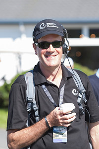 Volunteer scorer Mark Stephens on the 1st tee on the 3rd day of competition  in the Asia-Pacific Amateur Championship tournament 2017 held at Royal Wellington Golf Club, in Heretaunga, Upper Hutt, New Zealand from 26 - 29 October 2017. Copyright John Mathews 2017.   www.megasportmedia.co.nz