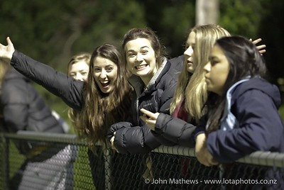 More supporters at the Wellington Boys Youth Championship Premier Football Final (Trevor Rigby Cup)  between Wellington College and Rongatai College played at Wellington College, Wellington, New Zealand on 23 August 2012. Photo: john.mathews @xtra.co.nz