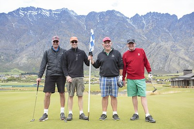 20151114 Brian Kennedy, Grant Spencer, George Hunt and Steve Smith at Jacks Point - 2015 RWGC ParTee Trophy _MG_4388 a