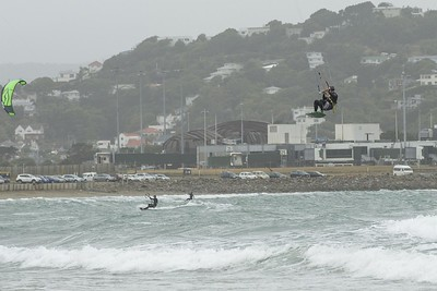 20160325 Kite Boarders at Lyall Bay, Wellington _MG_2336
