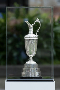 The Claret Jug on display as part of the Trophy Tour  in Midland Park, Wellington, New Zealand  on 13 October 2017. Photography: John Mathews@xtra.co.nz.