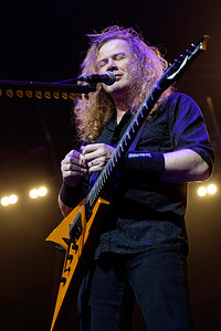 Megadeth live at Joe Louis  Arena  in Detroit, Michigan on 10-9-2016.  Photo credit: Ken Settle