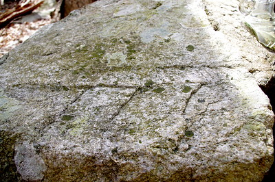 Ogham-like markings on a stone